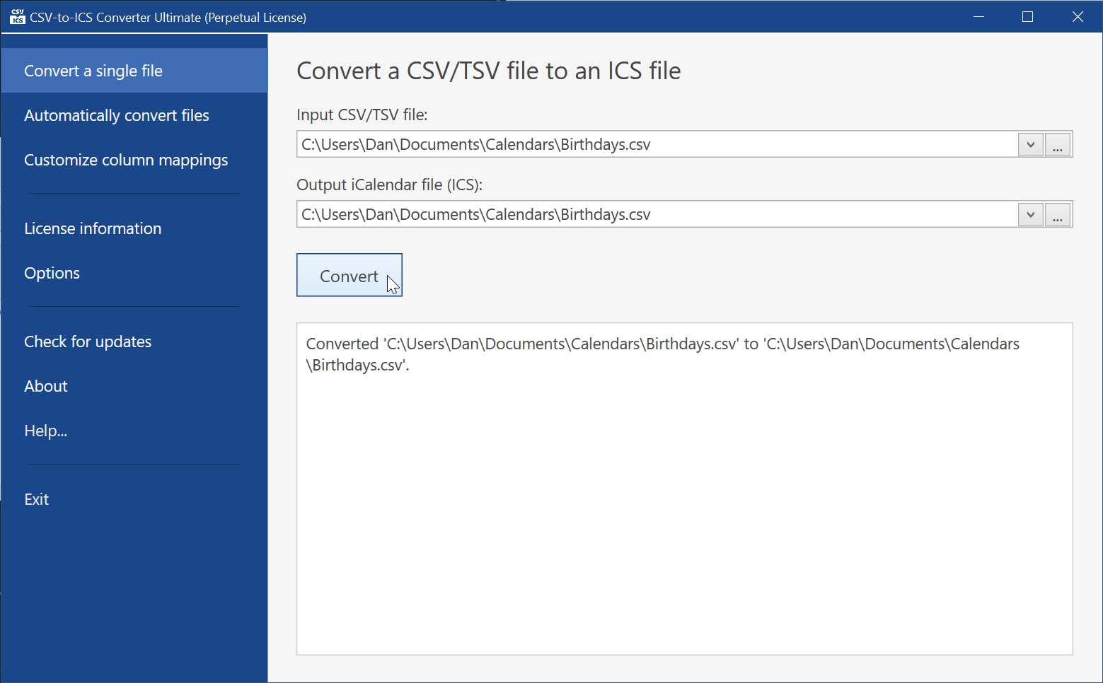 Convert CSV files into ICS calendars for free